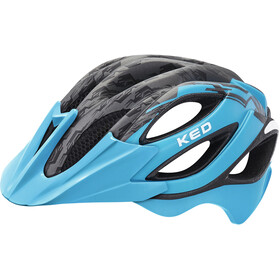 KED Paganini Visor Helmet Black Lightblue Matt